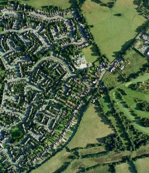 Aerial View of Cheswick Green  c2008